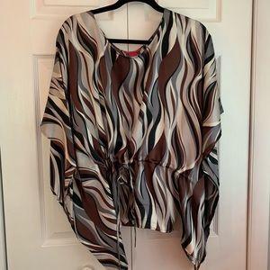 Silk scarf blouse